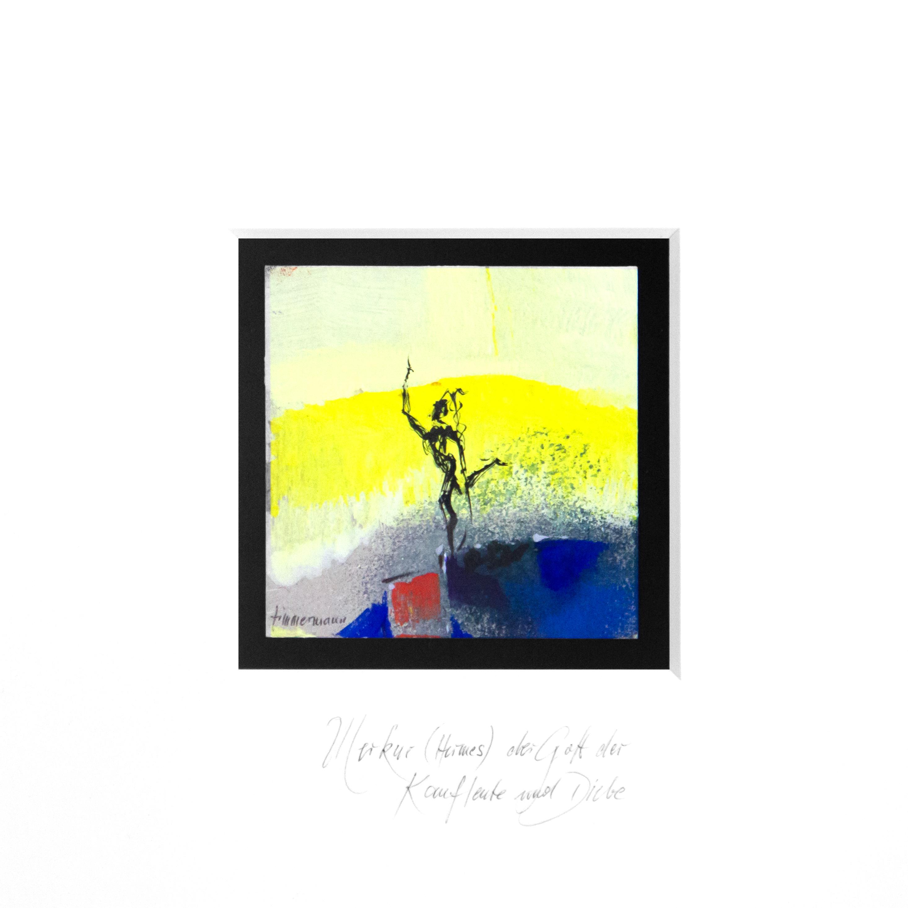 Merkur - Der Gott der Kaufleute und Diebe (Miniatur-Gemälde)