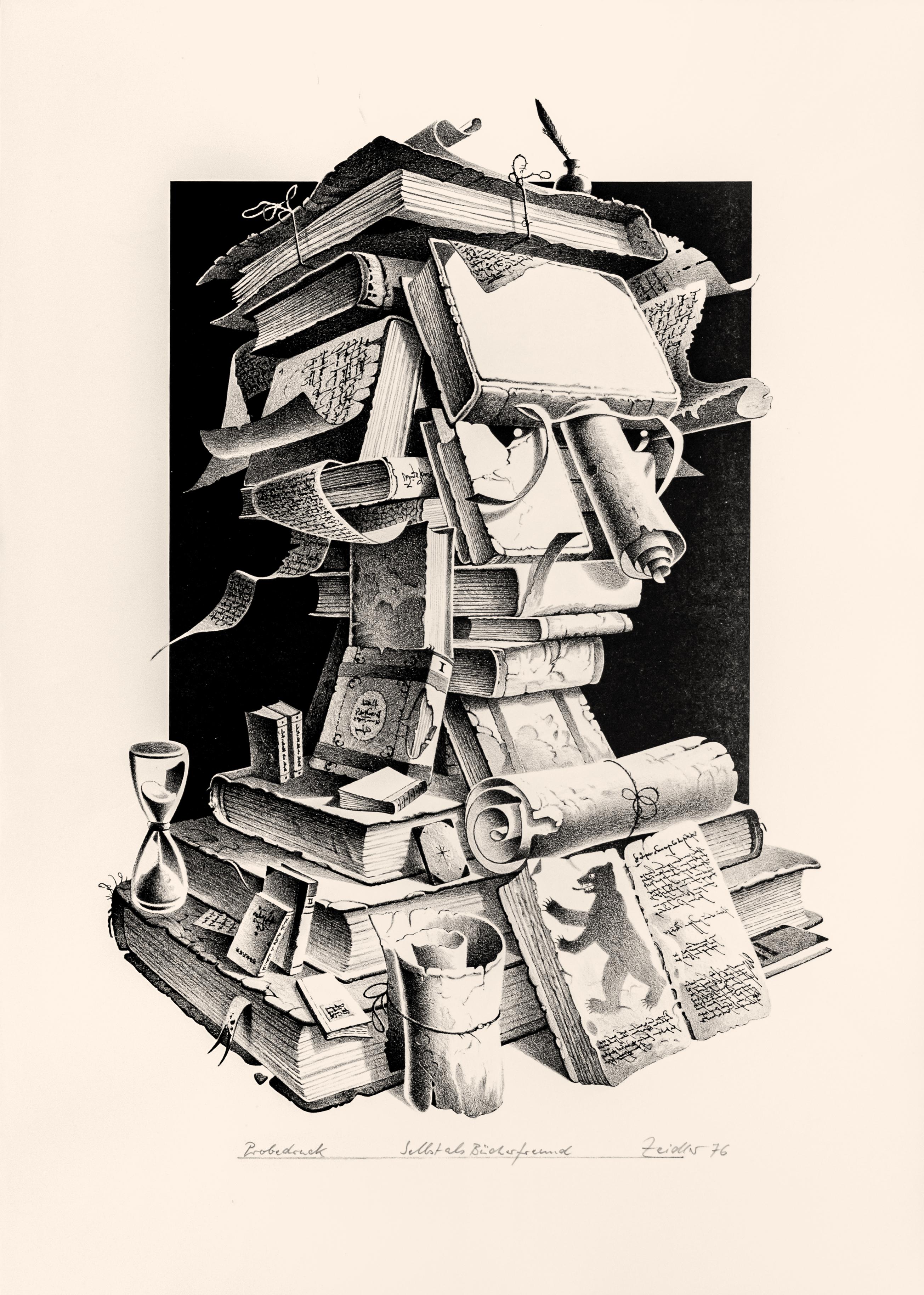 Selbst als Bücherfreund (Probedruck)