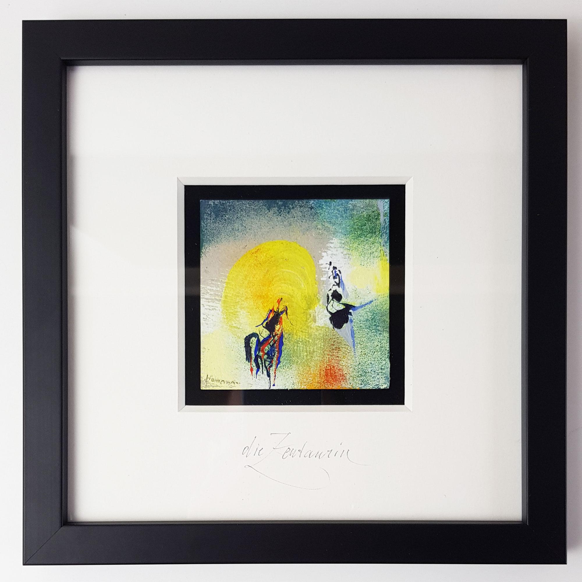 Die Zentaurin (Miniatur-Gemälde)
