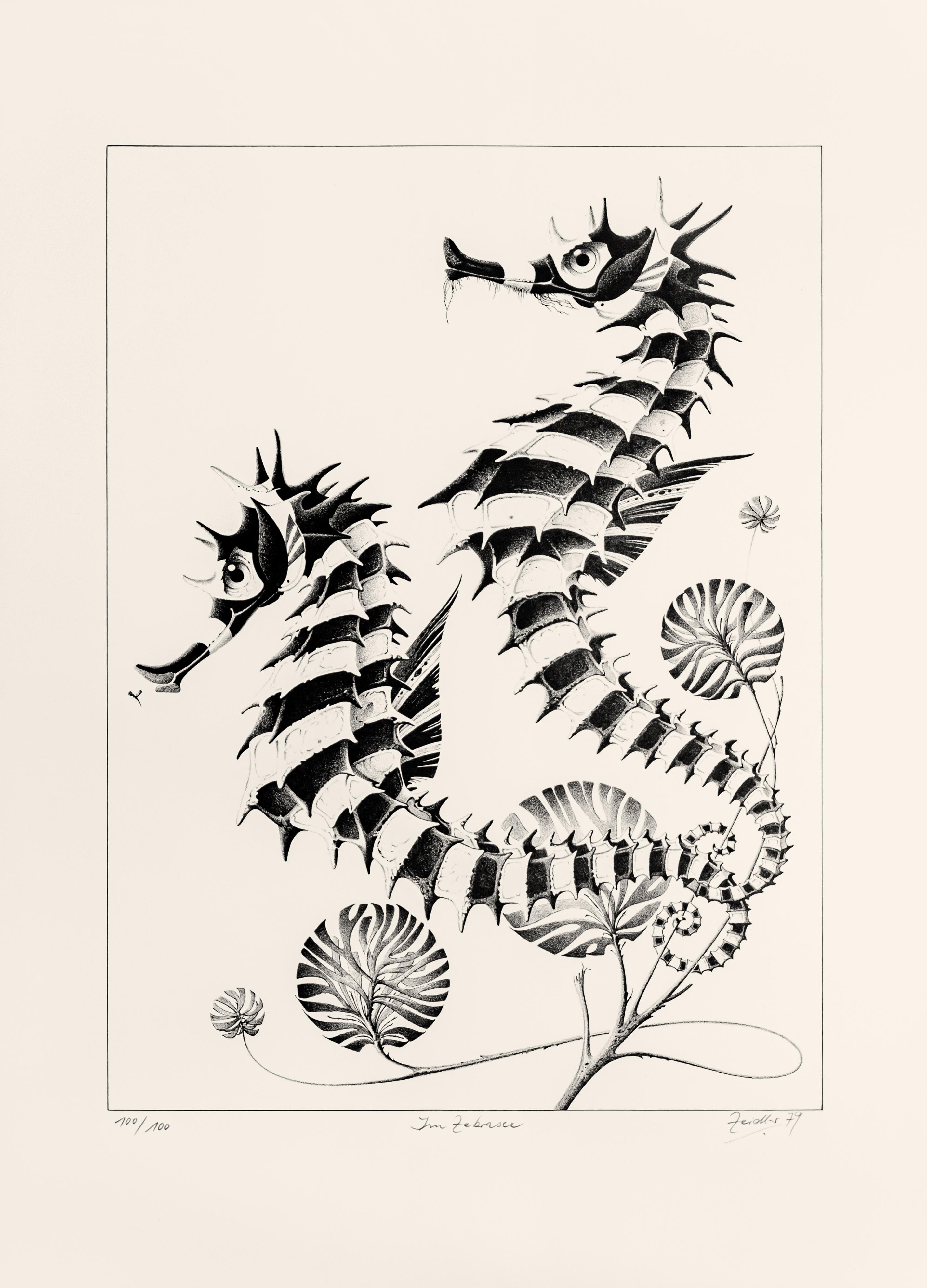 Im Zebrasee (Schwarz-Weiß)
